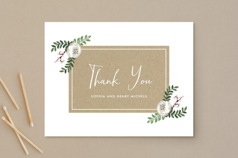 Krafted Florals Thank You Postcards