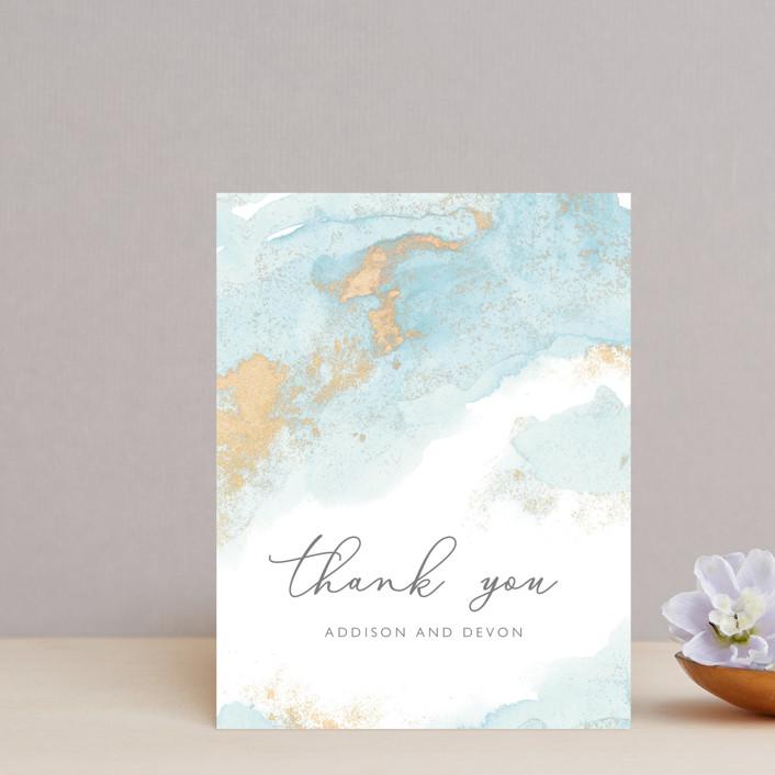 """My tenderness"" - Thank You Postcards in Topaz by Helen Halik."