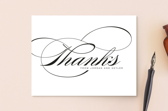 """Waltz"" - Thank You Postcards in Tuxedo by Lori Wemple."