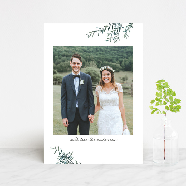 """Fresh Sage"" - Thank You Postcards in Olive by Christie Kelly."