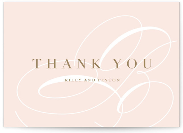 This is a bold and typographic, modern, pink Thank You Postcards by Lauren Chism called Fresh Monogram with printing on Signature in Flat Card format. Elegant mongogram paired with a unique type layout, that is classic and traditional, yet fresh. ...