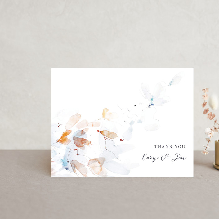"""Petale"" - Thank You Postcards in Blush by Kelly Ventura."