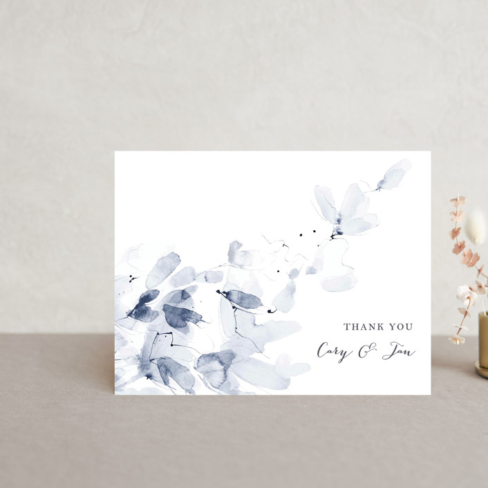 """""""Petale"""" - Thank You Postcards in Blush by Kelly Ventura."""