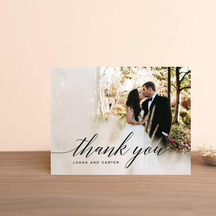 """""""Someone Like You"""" - Thank You Postcards in Tuxedo by Design Lotus."""