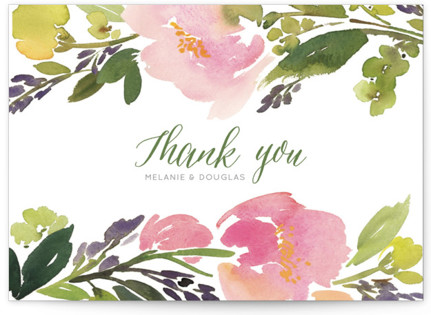 Watercolor Floral Thank You Postcards