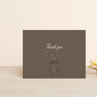Fireflies Thank You Postcards