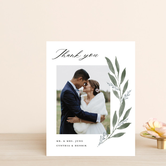"""""""Pressed Foliage"""" - Thank You Postcards in Heather by Stacey Meacham."""