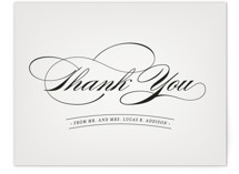 This is a grey thank you postcard by Hooray Creative called Big City - Philadelphia printing on signature in postcard.
