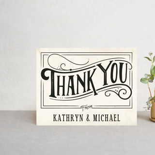 Inked Thank You Postcards