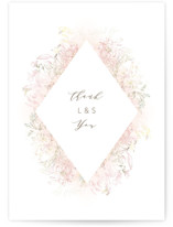 This is a pink thank you postcard by Phrosne Ras called Pastel Dream printing on signature in postcard.