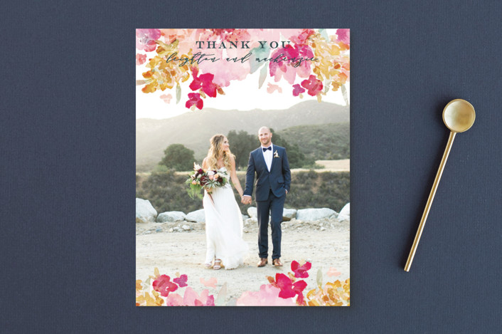"""Spring Garden"" - Thank You Postcards in Petal by Grace Kreinbrink."