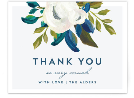 Our Something Blue Thank You Postcards