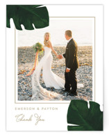 This is a green thank you postcard by Kaydi Bishop called Palm printing on signature in postcard.