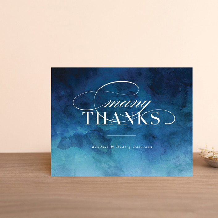 """Indigo Sea"" - Thank You Postcards in Ocean by Kelly Schmidt."