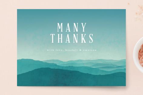Misty Mountain Range Thank You Postcards