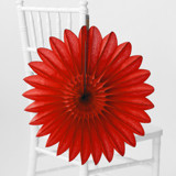 This is a red tissue paper fan by Minted called Cherry Red Petal.