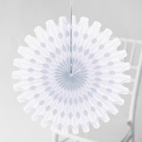 This is a white tissue paper fan by Minted called White Honeycomb.