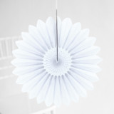 This is a white tissue paper fan by Minted called White Petal.