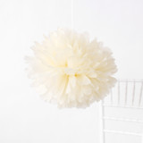 "This is a brown tissue paper pom pom by Minted called Cream 18""."