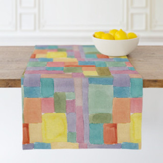 Patchwork Watercolor Table runners