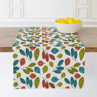 Illustrated Leaves Table runners