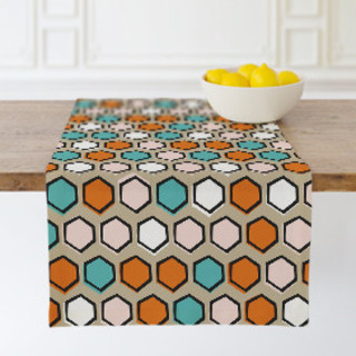 Bright Hexagons Table runners