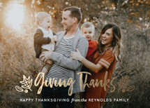 Thanksgiving Greetings Foil-Pressed Thanksgiving Cards By Faiths Designs