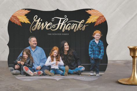 Give Thanks Foil-Pressed Thanksgiving Cards