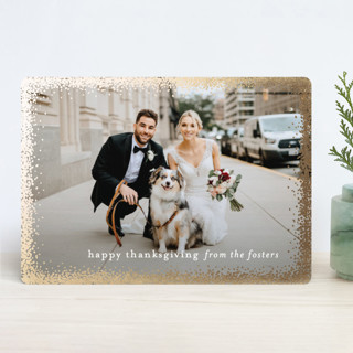 Holiday Frame Foil-Pressed Thanksgiving Cards