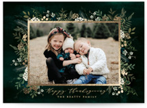 This is a green thanksgiving cards invitation by Susan Moyal called Classic Greenery with foil-pressed printing on smooth signature in standard.