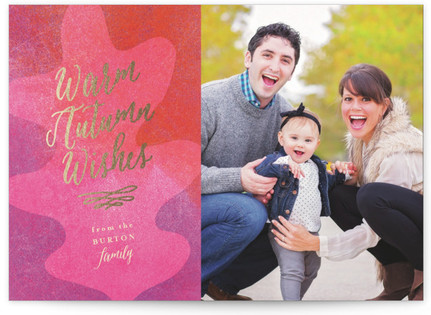 Autumn Wishes Thanksgiving Cards
