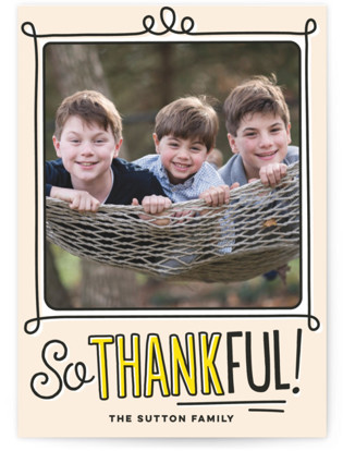 Highlighted Handwriting Thanksgiving Cards