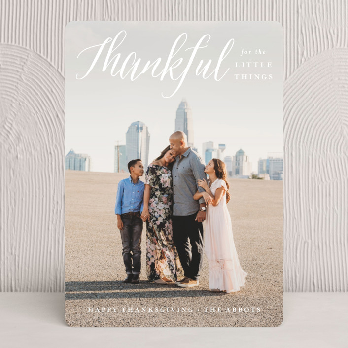"""""""Small Blessings"""" - Full-Bleed Photo, Simple Thanksgiving Cards in Cloud by Susan Asbill."""