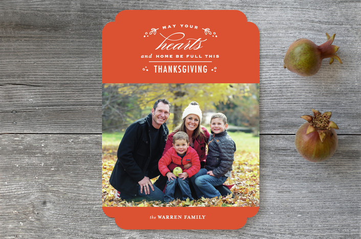 """""""So Thankful"""" - Traditional Thanksgiving Cards in Pumpkin by lena barakat."""
