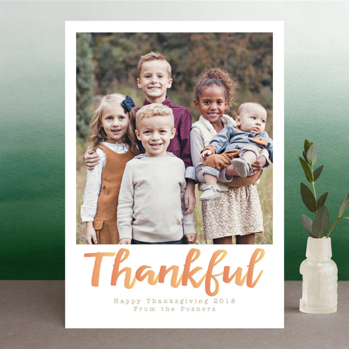 """""""Thankful"""" - Thanksgiving Cards in Autumn by Grace Cobb."""