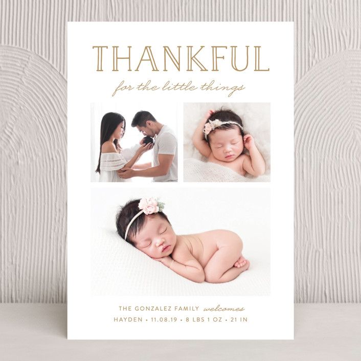 """The Little Things"" - Rustic Thanksgiving Cards in Cloud by Susan Asbill."