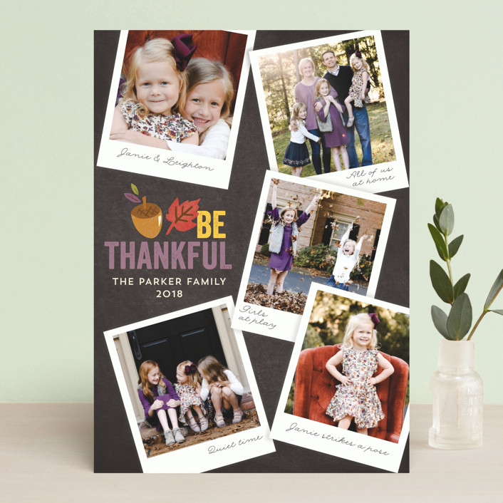 """Family Snapshots"" - Vintage Thanksgiving Cards in Almond by Griffinbell Paper Co.."