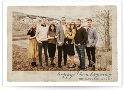 Deckled Merrier than Ever Thanksgiving Cards