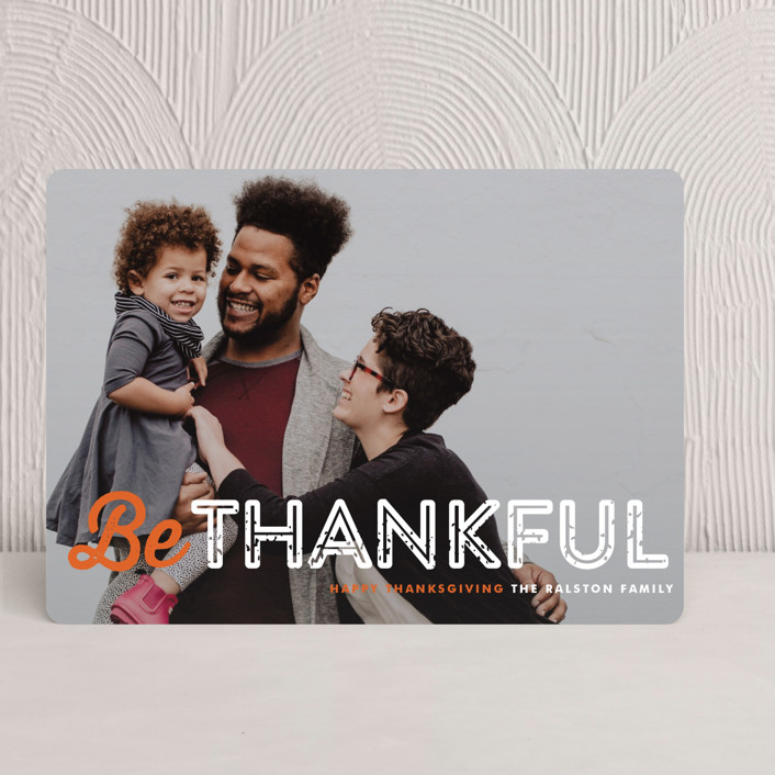 """""""Just Be"""" - Full-Bleed Photo Thanksgiving Cards in Pumpkin Pie by Lauren Chism."""