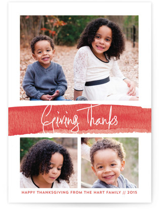Watercolor Warm Wishes Thanksgiving Cards