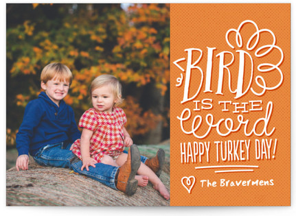 Bird is the Word Thanksgiving Cards