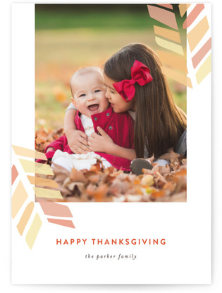 Feather Frame Thanksgiving Cards