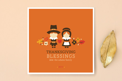Pilgrim Blessings Thanksgiving Cards