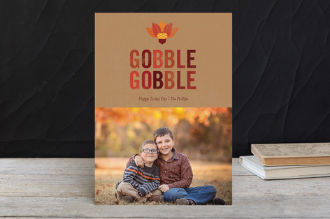 Acorn Turkey Thanksgiving Cards