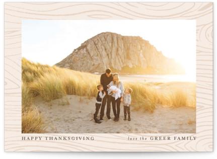 Wood Print Thanksgiving Cards