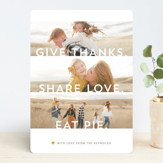 Clean Thankful Wishes Thanksgiving Cards