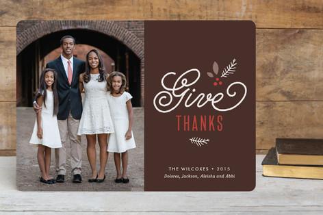 Botanical Thanks Thanksgiving Cards