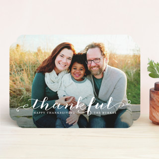 Scripted Thanks Thanksgiving Cards