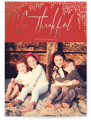 Gilded Thanks Thanksgiving Cards