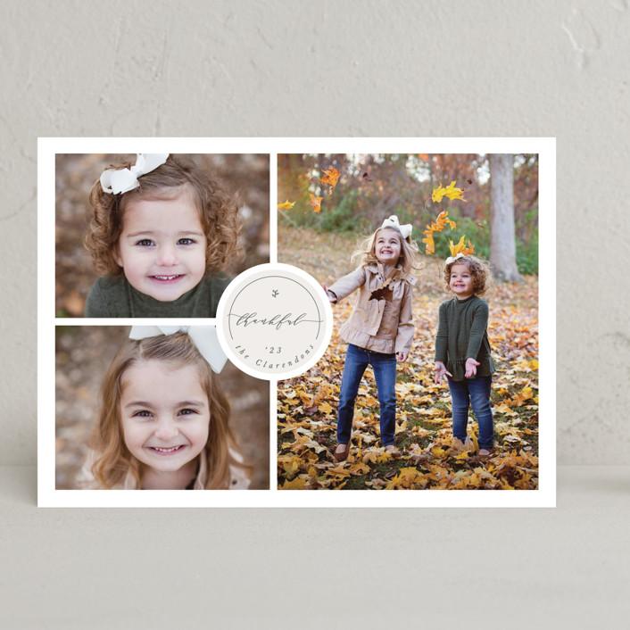 """""""Thankful Sticker"""" - Thanksgiving Cards in Artichoke by Gwen Bedat."""